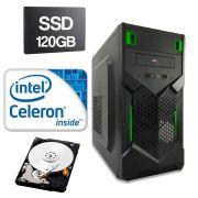 Computador Home CPU Intel Celeron G530 2,4GHZ 4GB DDR3 SSD 120GB HD 320GB