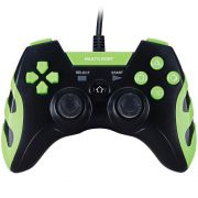 Controle Warrior Dualshock Preto/Verde PS3/PS2/PC JS081
