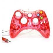 Controle Xbox 360 com Fio Led Vermelho - Pro50