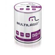 DVD-R C/ Logo 16x 4.7GB Shrink C/ 100 Unidades Multilaser Dv037