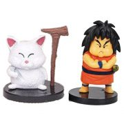 Kit Action Figures Dragon Ball Z Mestre Karin e Yajirobe 4cm