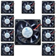 Kit C/ 10 Micro Ventiladores 60x60x15mm Fan Cooler 12v Dc Mini 60mm