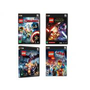 Kit C/ 4 Jogos Lego Star Wars, Hobbit, Vingadores e The Movie