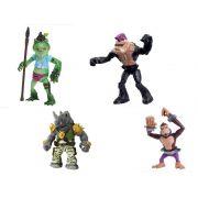 Kit c/ 4 Vilões Tartarugas Ninja, Napoleon Bonafrog, Monkey Brains, Rocksteady e Bebop Br118