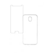 Kit Capa Transparente + Película de Vidro para Galaxy J5 Pro