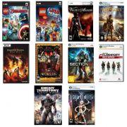 Kit combo c/ 20 jogos p/ PC Originais lacrados Mídia Física