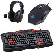 Kit Gamer Standart Teclado + Mouse 1600dpi + Headset