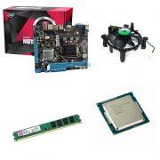 Kit Placa Mãe Afox H81 1150 + Processador Pentium Dual Core G3250 3.2GHZ + 4GB Ram Kingston