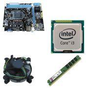 Kit Placa Mãe BRPC 1155 + Processador Intel Core I3 2120 3,3GHZ + 4GB Ram Kingston