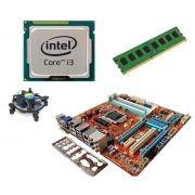 Kit Processaodor I3 2120 3,3GHZ + Placa Mãe STI ST4272 1155 + 4GB Ram DDR3