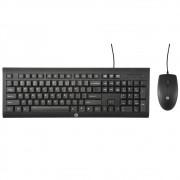 Kit Teclado e mouse HP USB com fio Preto - C2500