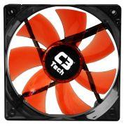 Kit C/ 10 Coolers Fan Led Vermelho C3 Tech F7-L100RD Storm 12cm
