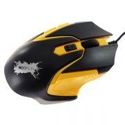 Mouse Gamer 2400dpi 5 Botões Hoopson Gx-57 Amarelo
