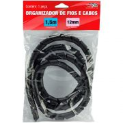 Organizador P/ cabos e fios 12mmx1.5m preto Force-line PT 1 UN