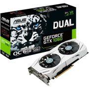 Placa de Vídeo VGA NVIDIA ASUS GEFORCE GTX 1060 6Gb GDDR5, 192-Bits, VR Ready, Auto-Extreme, Wing-Blade Fans, DVI/2-HDMI/2-DP, DUAL-GTX1060-O6G