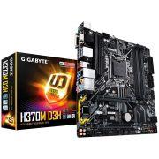 Placa-Mãe GIGABYTE p/ Intel mATX H370M D3H DDR4 8ª Geração LGA 1151