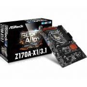 Placa Mãe S1151 Asrock Z170A-X1 / 3.1 DVI / USB 3.1 / SOM / DDR4