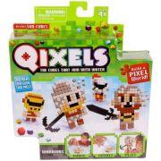 Qixels temáticos guerreiros cubos para montar Multikids Br494