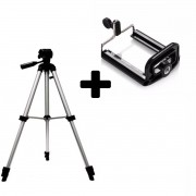 Tripé p/ Câmera Digital e Celular ajustável até 1,20cm de altura
