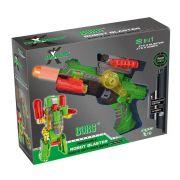 XChangers Lançador de Dardos Que Vira Robô - Verde - Multikids BR103