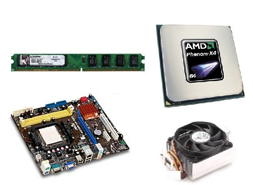 Kit MB Asus M2N68-AM SE2 / Phenom X4 9350 2.0GHZ + Cooler / 2GB 800MHZ Kingston