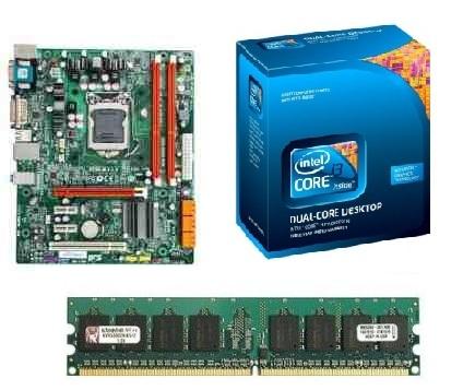 Kit ECS H55H-M 1156 / Core i3 530 2.66GHZ / 4GB 1333MHZ KINGSTON