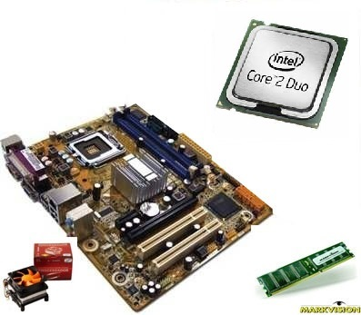 KIT Core2Duo E7500 + PC WARE IPM41 / 4GB DDR3 1333MHZ MARKVISION