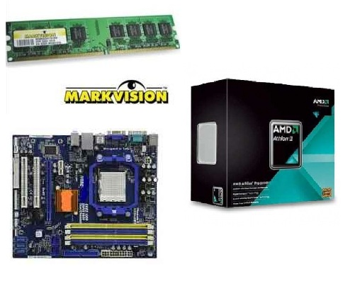 Kit AMD Dual Core X2 250 3.0GHZ / Phitronics N68C-M3 / 2GB DDR3 1333MHZ Markvision