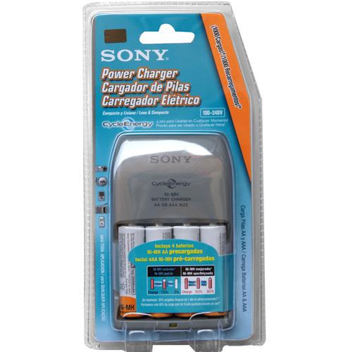Carregador BCG-34HLD4K c/ 4 pilhas AA de 2000mAh - Sony