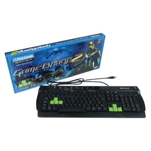 Teclado Multimídia USB GameBoard2 Preto FORTREK SK611