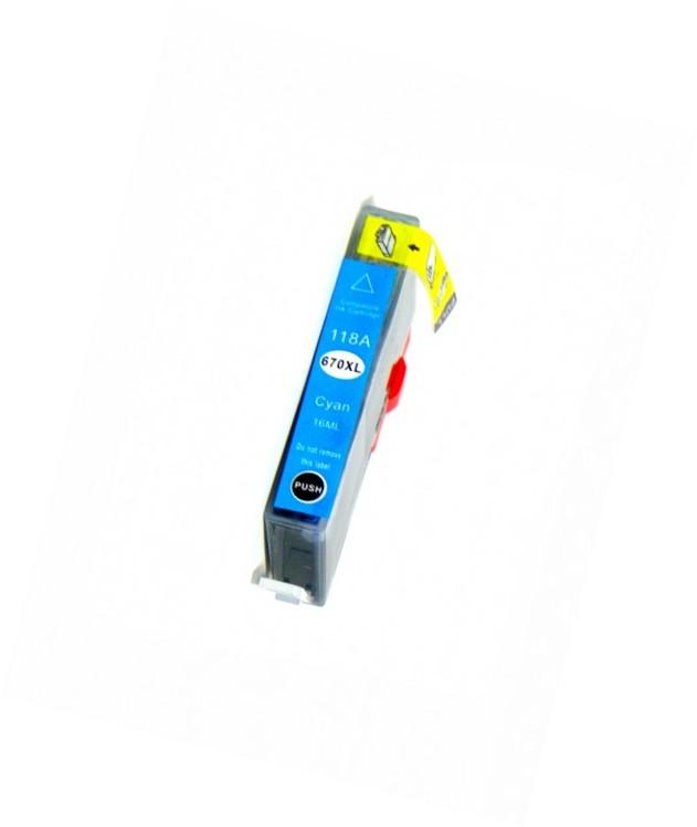 Cartucho de Tinta 670XL Compatível - Ciano