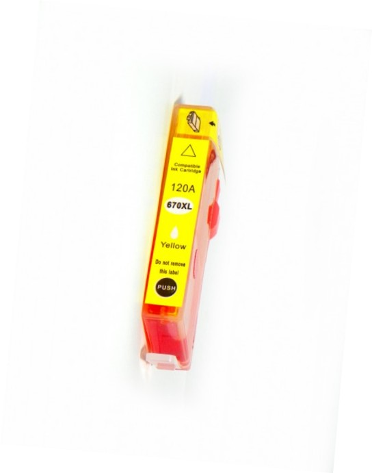 Cartucho de Tinta 670XL Compatível - Amarelo