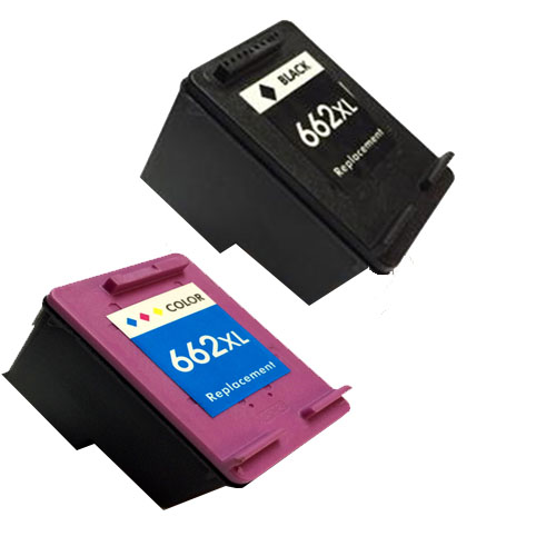 Kit Cartuchos HP 662 662XL Compatível 2515 2516 3515 35106 Preto e Colorido