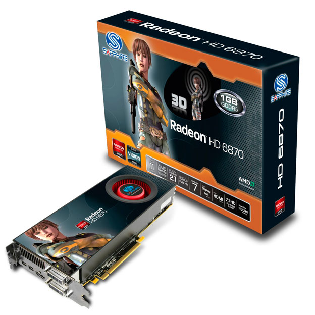 Placa de Vídeo ATI Radeon HD 6870 1GB DDR5 Sapphire 314SR
