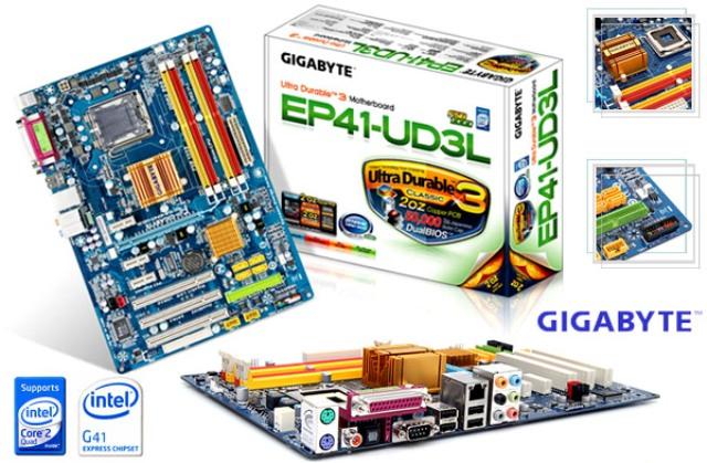 Placa Mãe Gigabyte GA-EP41-UD3L (LGA 775 - DDR2) - Chipset Intel G41 - High Definition Audio