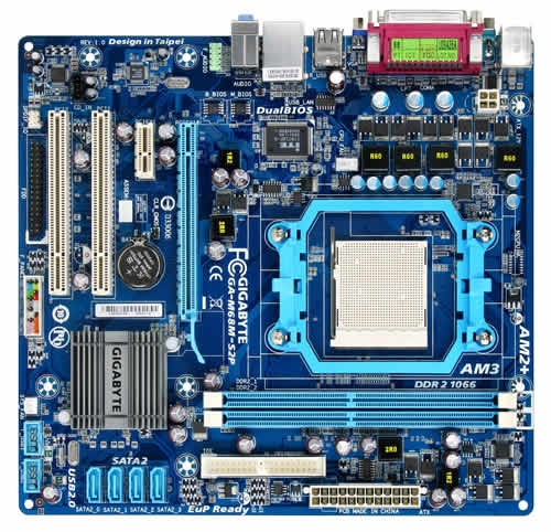 Placa Mãe Gigabyte GA-M68M-S2P (AM3 - DDR2 1066) - GeForce 7025