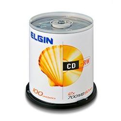 Cd-rw Elgin Regravável 12x 700mb 80min C/ 100 Unidades