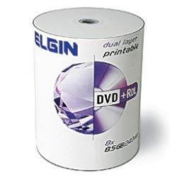 Dvd+r Dl Elgin 8.5Gb Dual Layer Printable Umedisc 100 Unidades