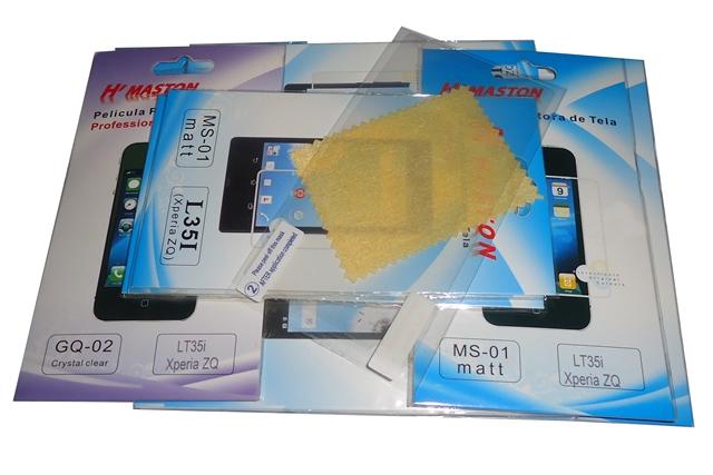 Lote 15 Películas Plastico Xperia ZQ