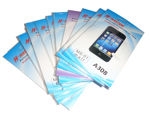 Kit 13 Películas Protetora de Tela Plastico Nokia Asha308
