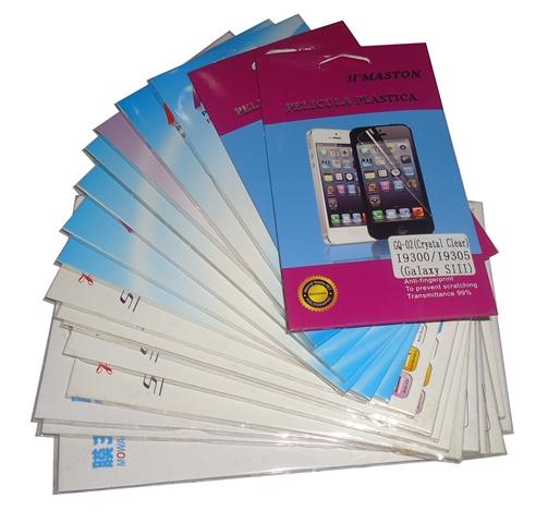 Kit 20 Películas Plástico Samsung Galaxy  S III I9300 / I9305