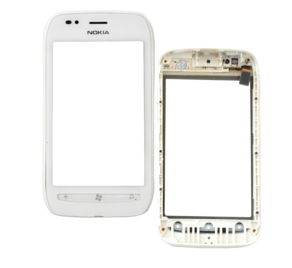 Tela Touch Nokia Lumia 710 C/ Aro Branca