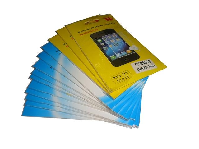 Lote 13 Películas Plástico Motorola RAZR HD XT925/XT926