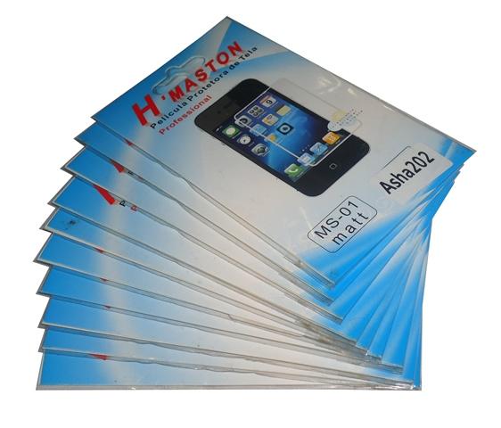 Lote 10 Películas Plástico Nokia Asha 202