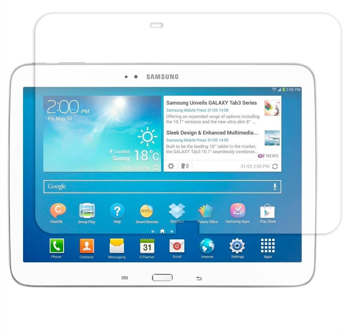 Película Plástico Samsung Galaxy Tab 3 P5200 10.1 Polegadas