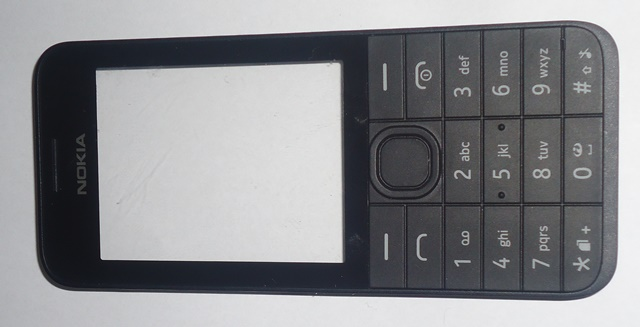 Carcaça Frontal Nokia 208 Preta
