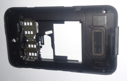 Carcaça Chassi Nokia Asha 230 Preta