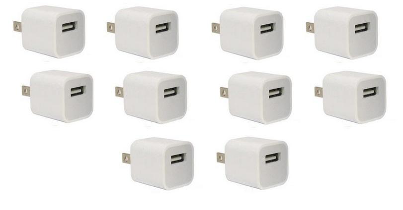 Lote 10 Fontes Carregadores 5V 1A para Celular e iPhone