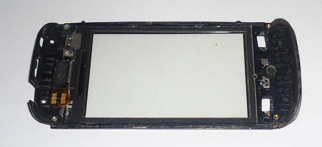 Tela Touch C/ Aro Nokia Asha 305 Semi Nova Cinza