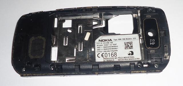 Carcaça Chassi Nokia Asha 305 Semi Nova Preta